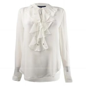 Tommy Hilfiger ruffle front blouse!